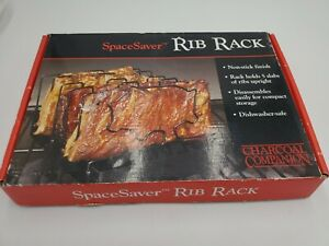 Charcoal Companion SpaceSaver Non-Stick Rib Grilling Rack  - New In Box