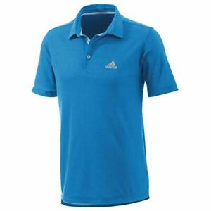 Adidas Men's Blue DriRelease Fitted Premium Polo Size S D81960