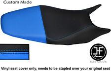 Negro Y Azul Claro Personalizado de vinilo cabe HONDA HORNET CB 600 98-01 Dual Cubierta de asiento