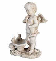 Engelfigur Amor mit Bogen Engel Shabby Chic Engelskulpur Gartenfigur Amor Cupid