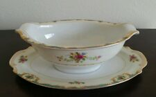 Vintage! Monarch  York Gravy Boat With Attached Underplate-Japan