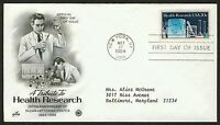#2087 20c Health Research, Art Craft-PCS FDC **ANY 4=FREE SHIPPING**