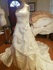 Essence of Australia wedding dress size US 12 ivory strapless pickups belt NWTs