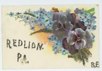 Glitter Greetings from RED LION PA Vintage York County Pennsylvania Postcard