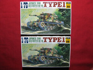 2 Japanese Tank Destroyer HO-NI Type 1 Fujimi 1/76 WW2 Military Soldiers Models