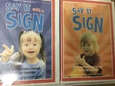 Say It with A Sign - Vol. 2 & 3 DVDS, New