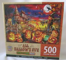 Masterpieces 500 Pc Jigsaw Puzzle Glow in the Dark ALL HALLOWS EVE