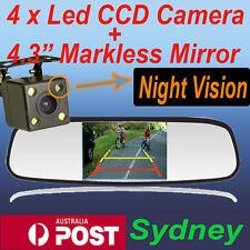 "4.3"" LCD Car Rear View Mirror Monitor + 4 LED CCD HD Reverse Camera Night Vision"