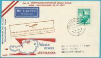 Austria De 1957 Carta por Correo Aéreo Lufthansa-Eröffnungs-Rückflug
