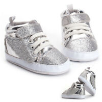 Newborn Toddler Baby Boy Girls Bling Wing Shimmer Sneakers Boots Soft Sole Shoes
