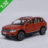 1:32 Tiguan Alloy Pull Back Model Car Muaical Flashing Diecast Metal Toys Gift