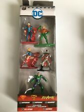 Nano Metalfigs DC COMICS Die Cast Metal Figures SuperMan Batman Jada 5 pack B