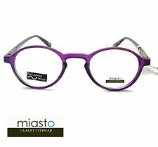 MIASTO RETRO ROUND KEYHOLE PREPPY READER READING GLASSES+1.25 PURPLE