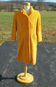 S33 Vintage/60s/Lilli Ann/Wool/Yellow/Wool/Coat/M/SOLD AS IS for LINING ISSUES!