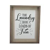 Parisloft Laundry Room Signs Wall Decor Vintage Laundry Wooden Sign Plaque