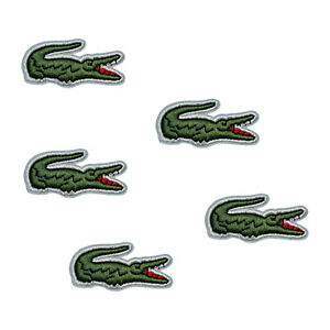 Embroidered Alligator Sport Logo Iron On Patch Bag Hat Fabric Applique Badge New