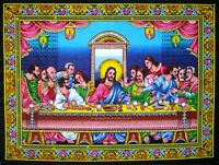 Jesus Christ disciples last supper sequin wall hanging happy easter tapestry art