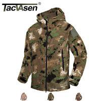 TACVASEN Mens Tactical Camouflage Fleece Jackets Police Coats Military Jacket