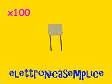 condensatore poliestere 100nf 100v 100 pezzi (C110)
