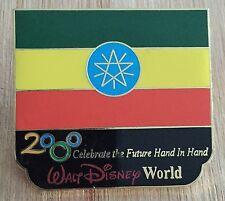 Millennium Village WDW Flag Pin Ethiopia Pavilion 2000 Disney Pin
