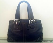 Pre-Owned COACH Black Leather Carryall Tote Bag