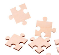 10 x Wooden Jigsaw Craft Shapes Puzzle Pieces Plywood Jigsaw Craft Blank shapes