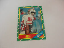 Excellent 1986 Topps 49er's Jerry Rice Rookie Football Card #161 Sharp Corners