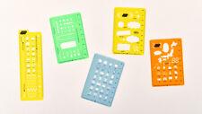 Hobonichi Template Stencil Sheet Ruler for Planner Notebook 5pcs Set