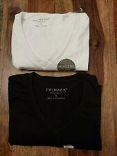 Primark Men 2Pack V-Neck T-Shirt Size S SMALL