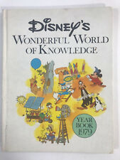 Vintage Disney Wonderful World of Knowledge Year Book 1979 Hardcover