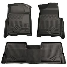 Husky Liners WeatherBeater Floor Mats-3pc-98331- Ford F150 Crew Cab 09-14- Black