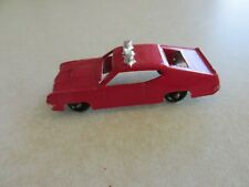 Mc6 VINTAGE MIDGETOY DIECAST Red Police Car Emergency Vehicle Ford Torino
