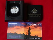 AUSTRALIA.  2013  $1 Kangaroo at Sunset - 1/5oz  Silver.. Proof.. Cased