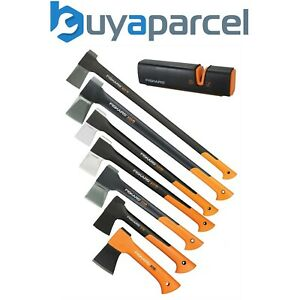 Fiskars Splitting Chopping Axe Anti Shock Soft Grip Sharpener X5 X7 X11 X17 X21