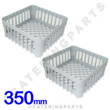2 X 350 X 350 GLASS-WASHER OPEN GLASS CUP SQUARE RACK BASKET 350mm IME OMNIWASH