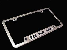 BMW License Plate Frame w/BMW Logo POLISHED stainless steel  82120010395