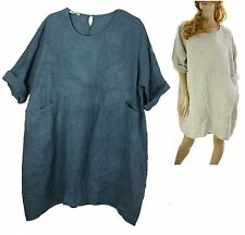 Linen 3/4 Sleeve Tunic Dresses for Women