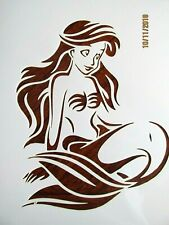 Mermaid Princess Stencil / Template Reusable 10 mil Mylar
