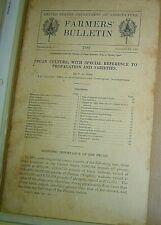 1916 FARMERS BULLETIN US Dept Agriculture PECAN CULTURE PROPAGATION VARIETIES