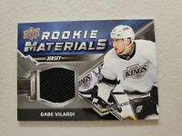 GABE VILARDI 2020-21 Upper Deck Series 2 Rookie Materials Black Jersey L.A. King