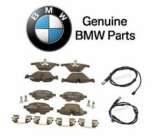 For BMW F10 535i Pair Set of Front & Rear Brake Pads Set w/ Sensors