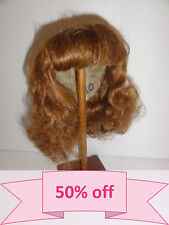"50% DISCOUNT -  Human Hair DOLL WIG size 13 "" (33 cm). Mi-Long red-brown hair."