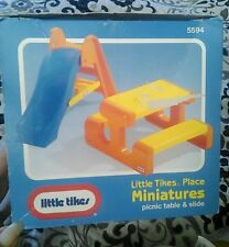 Little Tikes Place Dollhouse Family Yard Slide Picnic Table Toy Miniatures NIB