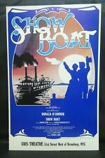"""Show Boat Theater Broadway Window Card Poster 14"""" x 22"""""""