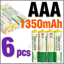 6 pcs AAA Size 3A LR03 R03 1350mAh 1.2V Ni-MH Rechargeable Battery Cell/RC BTY