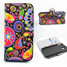 Leather Skin Card Slot Phone Accessory Hard Case Cover Best For HTC ONE M8