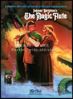 THE MAGIC FLUTE__Original 1986 video print AD / movie promo__INGMAR BERGMAN
