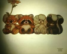 Rare Vintage Iron On Heat Transfer 1979 Morgan Inc Mfr. by Roach Cute Animals