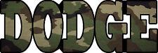 DODGE Camo Decal/Sticker FREE SHIPPING!!