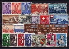 Lot Schweiz o - aus 1936 - 1944   ( 12546-o1 )